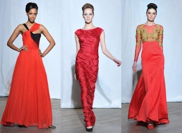 Длинные красные вечерние платья из коллекции «Мисс Полли»