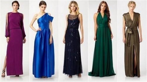выбор длинного платья