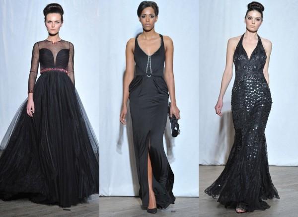 Чёрные вечерние платья из коллекции «Мисс Полли»