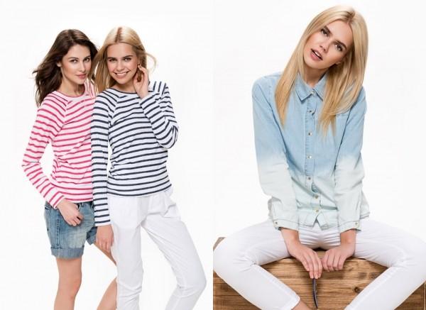 Джемперы в модную горизонтальную полоску и образ в стиле casual, ТВОЕ