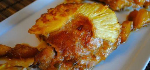 ананасы, курицы, растительное масло, филе