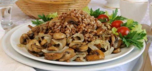 Гречка каша с грибами