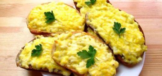 рецепт бутербродов с плавленым сырком